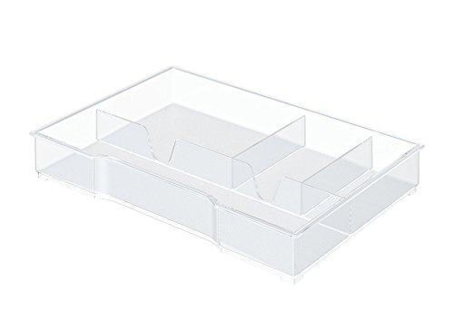 Leitz 52150002 Cube/Plus/Wow Cube Schubladeneinsatz (A4, Polystyrol) glasklar