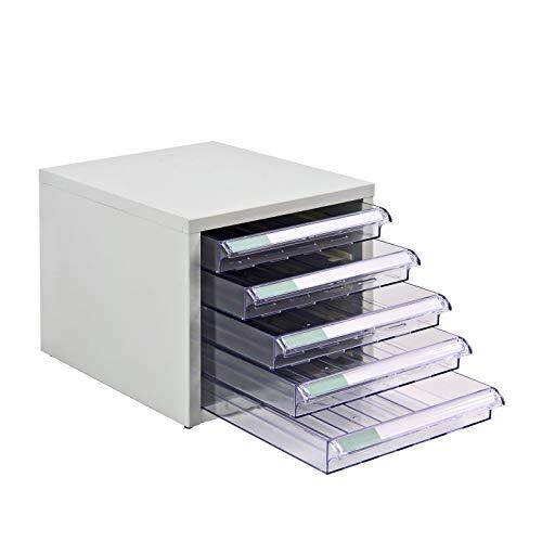 ADB Schubladencontainer Schubladenschrank Schubladenbox 5 Schubladen SC5 Metall 206x280x350 mm