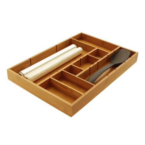 Woodquail Verstellbare Schubladen-Einsätze Besteckkasten
