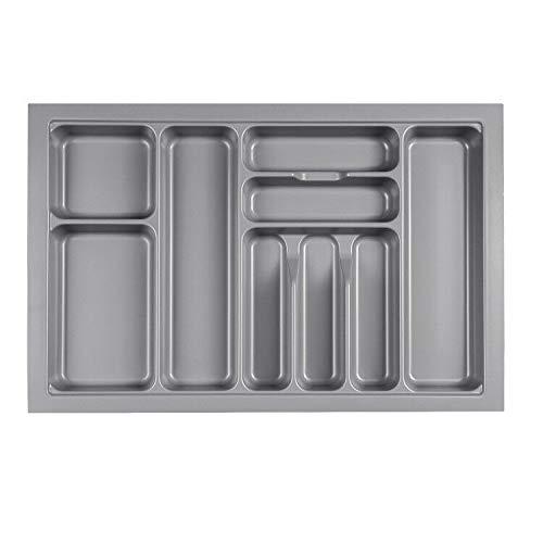 MUHOO Besteckkasten für Schubladen 80er Besteckeinsatz Küche Schubladeneinsatz aus Kunststoff 730 x 480 mm