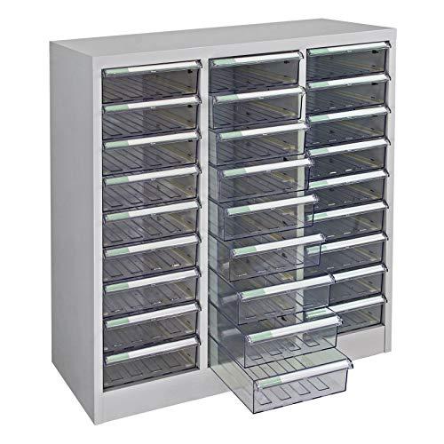 ADB Metall Schubladencontainer Schubladenbox Schubladenschrank 27 Fächer 880x795x350 mm